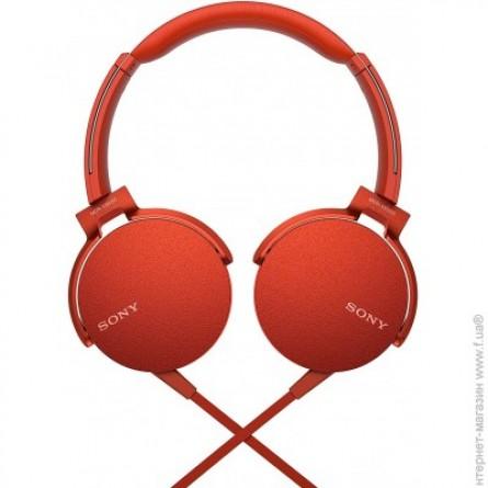 Зображення Навушники Sony MDR XB 550 APR Red - зображення 1