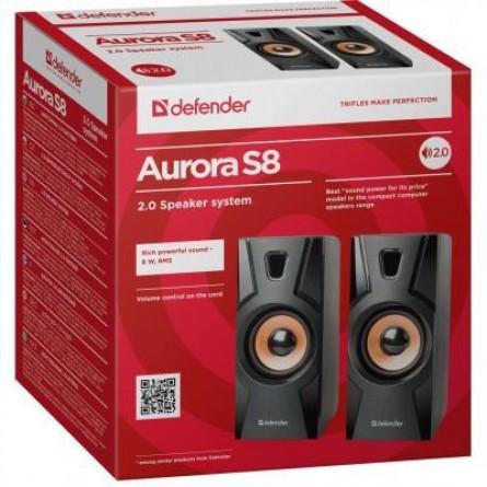 Изображение Акустическая система Defender 2.0 Aurora S 8 W USB Black - изображение 2