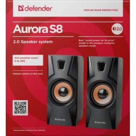 Изображение Акустическая система Defender 2.0 Aurora S 8 W USB Black - изображение 3