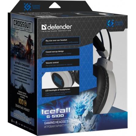 Зображення Навушники Defender Icefall G 510 D White Blue - зображення 4