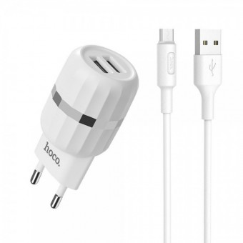 Изображение СЗУ Hoco C 41A 2USB 2.4A   Cable Type C White
