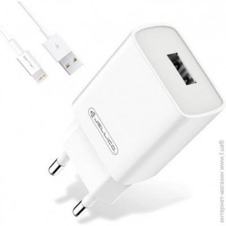 Изображение СЗУ Jellico AQC 33 1USB QC 3.0 Lightning cable White - изображение 1