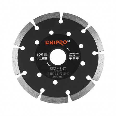 Зображення Круг відрізний Дніпро М 72521 002 Алмазний диск 125 (22,2 Сегмент) - зображення 1