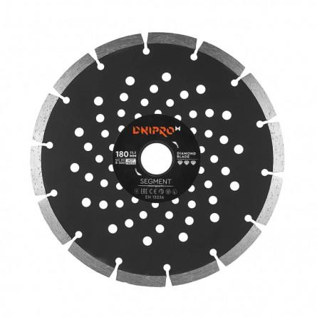 Зображення Круг відрізний Дніпро М 81955 000 Алмазний диск 180 (22,2 Сегмент) - зображення 1