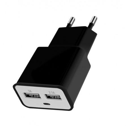 Зображення МЗП Florence 2 USB 2A   micro USB cable black - зображення 1