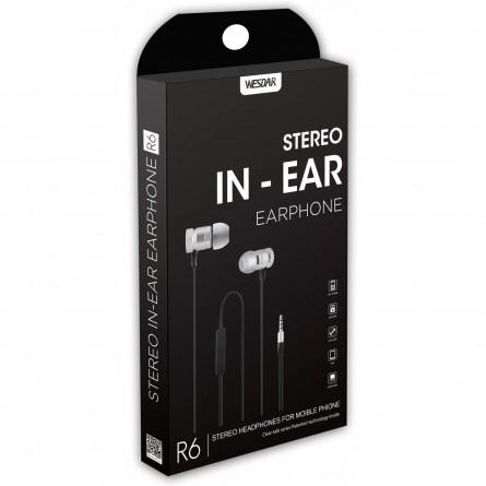 Зображення Навушники Wesdar R 6 with mic silver - зображення 2