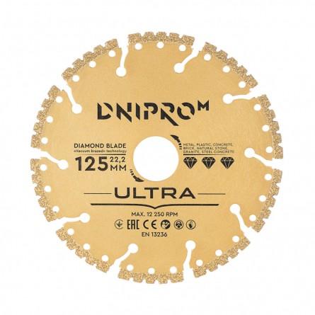 Изображение Круг отрезной Дніпро М 81947 000 Алмазний диск 125 (22,2 Ultra) - изображение 1