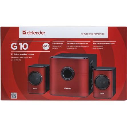 Изображение Акустическая система Defender G10 30W 220V red (65516) - изображение 2