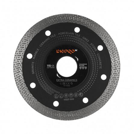 Изображение Круг отрезной Дніпро М 81922 000 Алмазний диск 125 (22,2*1,4 Екстра кераміка) - изображение 1