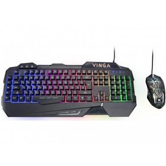 Зображення Клавіатура   мишка Vinga KBSG 558 Black