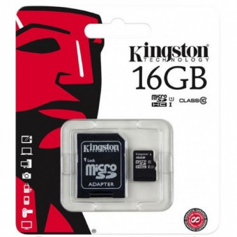 Зображення Карта пам'яті Kingston MSDHC 16Gb UHS1 cl10