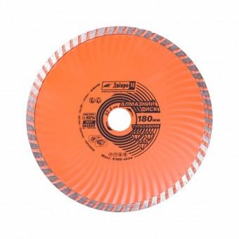 Изображение Круг отрезной Дніпро М 72525 003 Алмазний диск 180 (22,2 Турбоволна)
