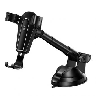 Изображение Автодержатель Usams ZJ056 Metal Stretchable Gravity Car Holder Black