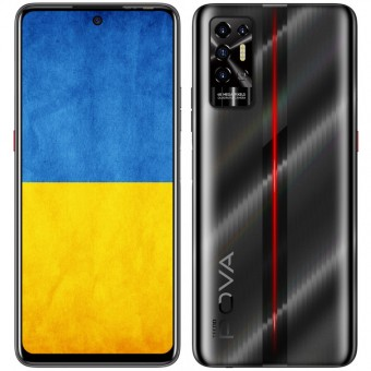 Зображення Смартфон Tecno POVA-2 (LE7n) 4/128Gb NFC Dual SIM Dazzle Black