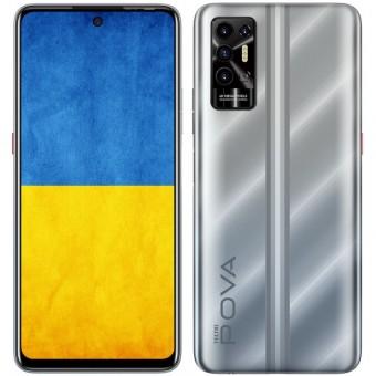 Зображення Смартфон Tecno POVA-2 (LE7n) 4/128Gb NFC Dual SIM Polar Silver