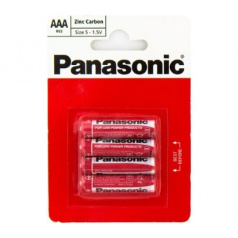 Изображение Батарейки Panasonic R 03 LR 03 REB