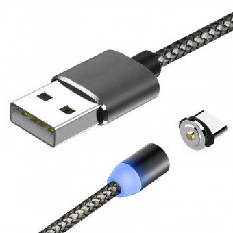 Изображение Magnetic Textile 360 Micro USB Black