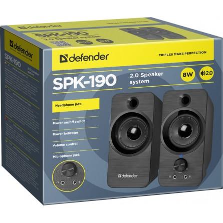 Зображення Акустична система Defender 2.0 SPK 190 8 W USB Black - зображення 2