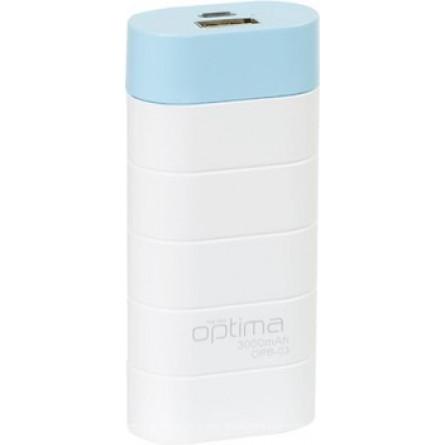 Изображение Мобильная батарея Gelius OPB 3 3000 mAh White Blue - изображение 1