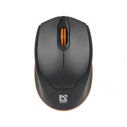 Изображение комп. миша Defender MB 865 Gray orange - изображение 1