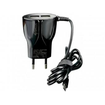 Изображение СЗУ Gelius 2 USB   Cable Type C 2.4 A Black