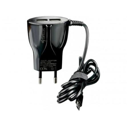 Зображення МЗП Gelius 2 USB   Cable Type C 2.4 A Black - зображення 1