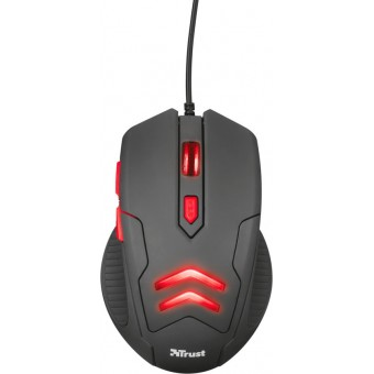 Изображение Trust TRUST Ziva Gaming mouse with Mouse pad BLACK
