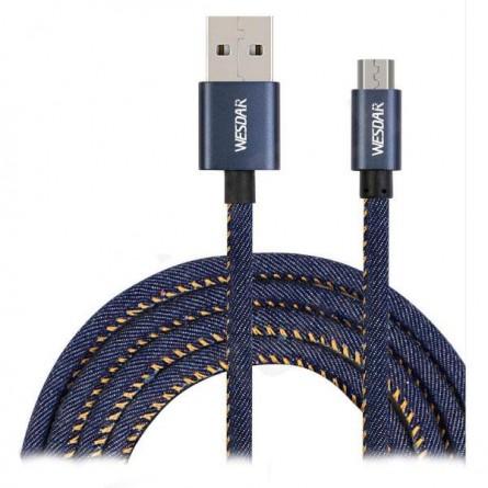 Зображення Wesdar T 8 micro USB 1m 2A Denim - зображення 1
