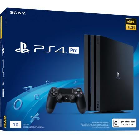 Зображення Ігрова приставка Sony PS 4 Pro 1 TB Black - зображення 1