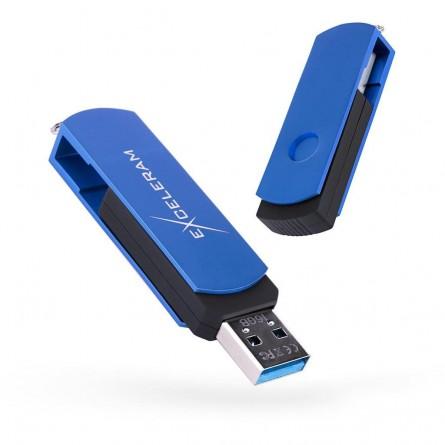 Изображение Флешка Exceleram P 2 Series Blue / Black USB 3.1 Gen 1 64 Gb - изображение 1
