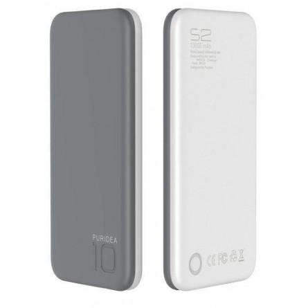 Изображение Мобільна батарея Puridea S 2 10000 mAh Li Pol Grey White - изображение 2