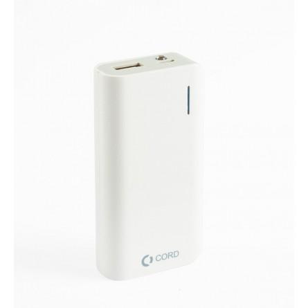 Зображення Мобільна батарея Cord D 002 Li ion 5200 mAh White Grey - зображення 1