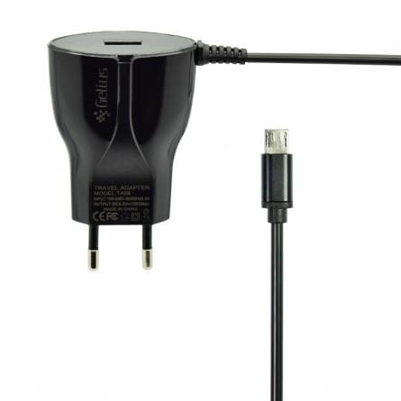Изображение СЗУ Gelius USB   Micro USB 1.5 A Black 1.2 m - изображение 1