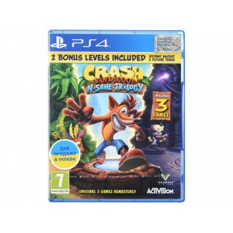 Зображення Диск Sony BD PS4 Crash Bandicoot N'sane Trilogy 88222 EN