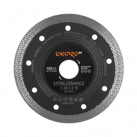 Изображение Круг отрезной Дніпро М 72521 004 Алмазний диск 125 (22,2 Екстра кераміка) - изображение 1