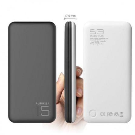 Изображение Мобільна батарея Puridea S 3 15000 mAh Li Pol Grey White - изображение 2