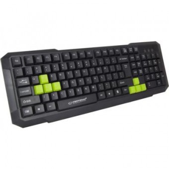 Изображение Клавиатура Esperanza EGK102 Green USB (EGK102GUA)