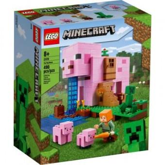 Зображення Конструктор Lego Конструктор  Minecraft Дом-свинья 490 деталей (21170)