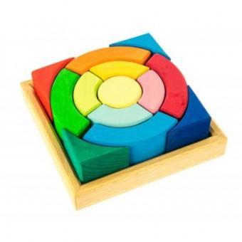 Изображение Конструктор nic Конструктор  деревянный Разноцветный круг (NIC523344)