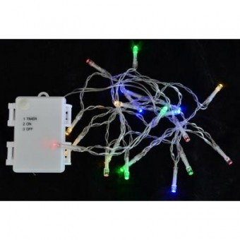 Изображение Гирлянда YES! Fun уличная, 15 LED лампочек, молочно-белая, 1,6 м (801130)
