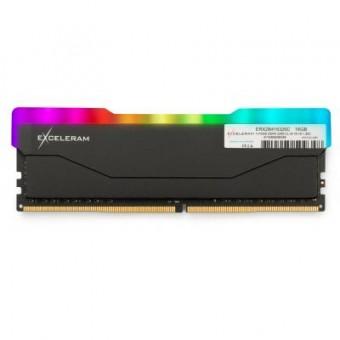 Зображення Модуль пам'яті для комп'ютера Exceleram DDR4 16GB 3200 MHz RGB X2 Series Black  (ERX2B416326C)