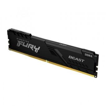 Зображення Модуль пам'яті для комп'ютера  DDR4 16GB 2666 MHz Fury Beast Black  (KF426C16BB1/16)