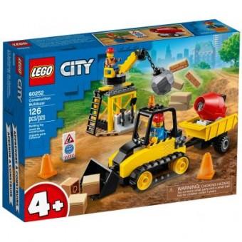 Изображение Конструктор Lego  City Great Vehicles Строительный бульдозер 126 деталей (60252)