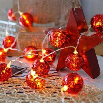 Изображение Гирлянда Colorway Светодиодная Christmas lights ball 6 см 10 LED 1.5 м USB Red (CW-MC-LB10U)