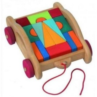 Зображення Конструктор nic Конструктор  деревянный Тоскана с тележкой 17 эл. (NIC523316)