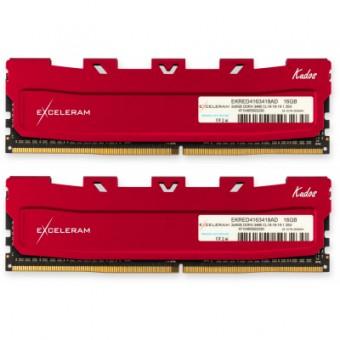 Изображение Модуль памяти для компьютера Exceleram DDR4 16GB (2x8GB) 3466 MHz Kudos Red  (EKRED4163418AD)