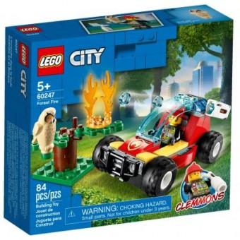 Изображение Конструктор Lego  City Fire Лесные пожарные 84 детали (60247)