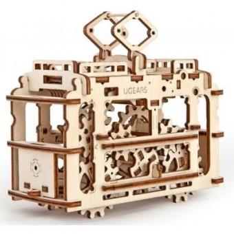 Изображение Конструктор Ugears Конструктор  механический Трамвай с рельсами (70008)