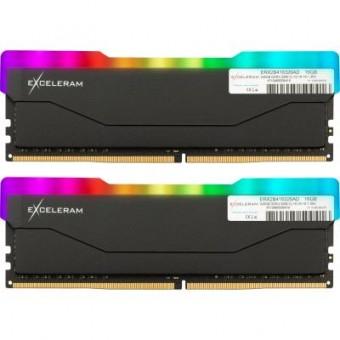 Изображение Модуль памяти для компьютера Exceleram DDR4 16GB (2x8GB) 3200 MHz RGB X2 Series Black  (ERX2B416326AD)