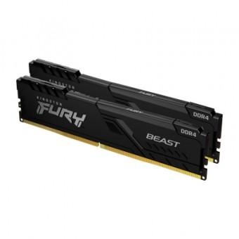 Зображення Модуль пам'яті для комп'ютера  DDR4 8GB (2x4GB) 3200 MHz Fury Beast Black  (KF432C16BBK2/8)